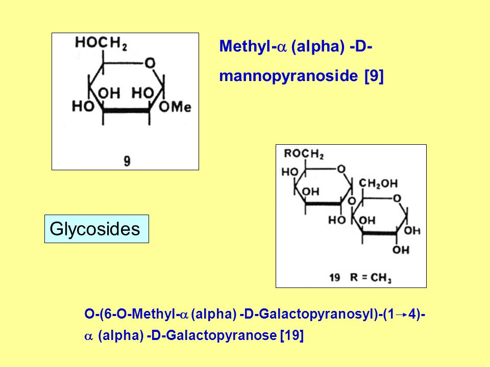 Glycosides Methyl- (alpha) -D- mannopyranoside [9]